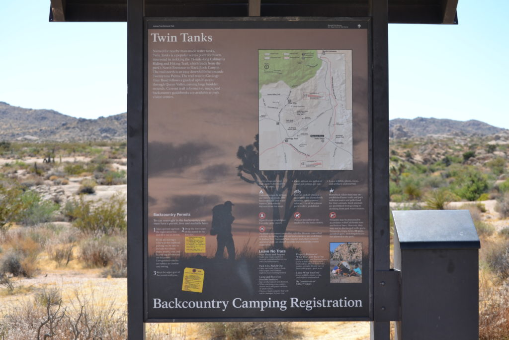 joshua-tree-natinal-park-camping-climbing-hiking-adventure-tour-twin-tanks-backcountry-registration-board-2