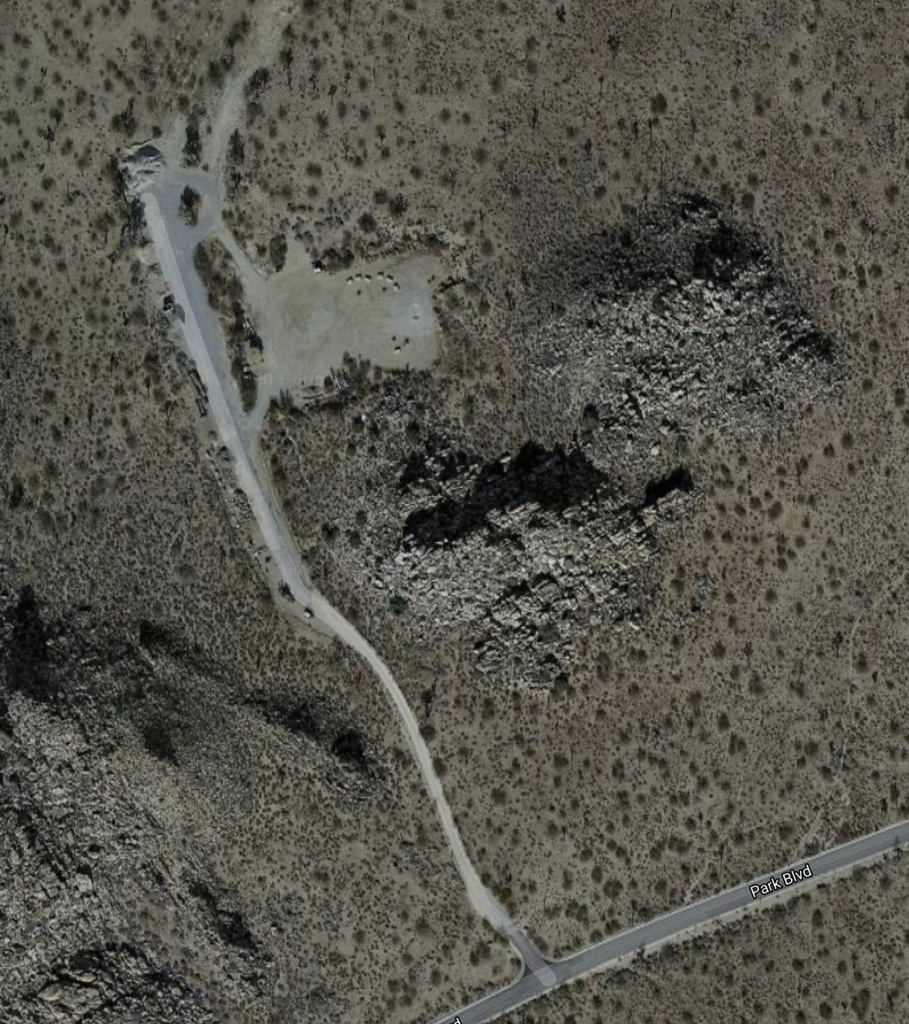 joshua-tree-national-park-climbing-camping-hiking-adventure-tour-service-area-road-near-Sheep-Pass-Campground-satellite-map-view